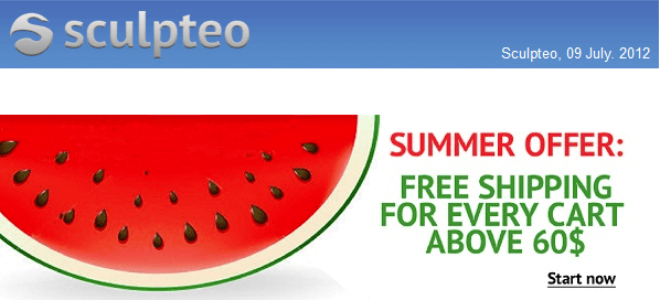 Sculpteo Summer Offer: Free Shipping Worldwide for Every Cart Above $60!