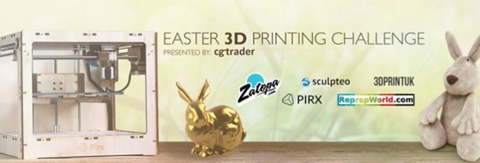 Easter 3D Printing Challenge with CGtrader!