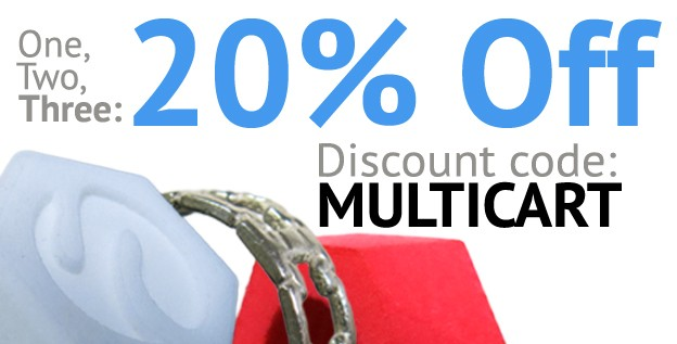New offer: 20% off on orders of 3 and more!!