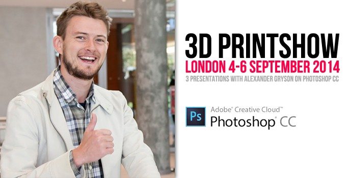 Sculpteo to present on Photoshop at the 3D Printshow London