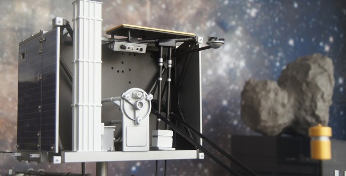The spacecraft's robotic lander using 3D printing.