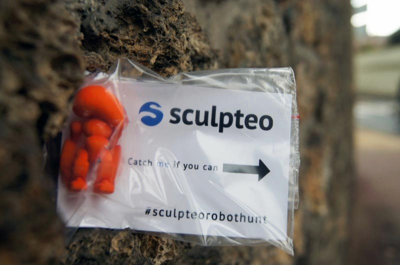 Sculpteo is having their first annual Robot Hunt