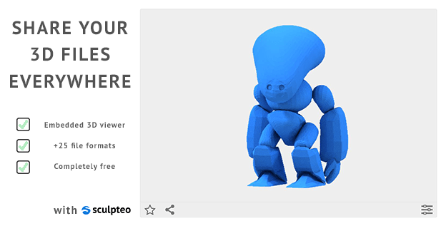 Display your 3D model on your website or blog: embed a 3D model viewer