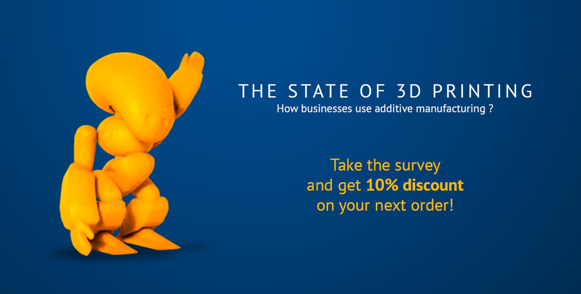 How do you use 3D printing? Join our survey and benchmark yourself