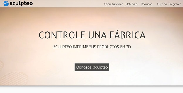 3D printing: spanish version of Sculpteo is live