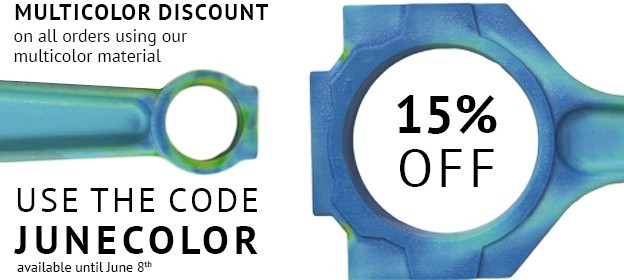 5 days to save 15% on your multicolor 3D prints