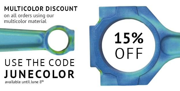 Save 15% On Multicolor 3D Prints: Just 5 Days Left