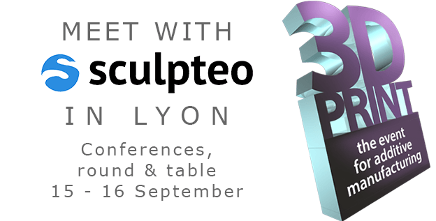 3D printing: Sculpteo will be at the tradeshow 3D Print in Lyon