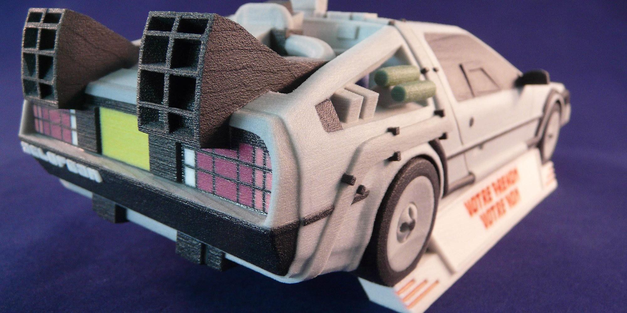 La DeLorean de Retour vers le futur s'imprime en 3D !