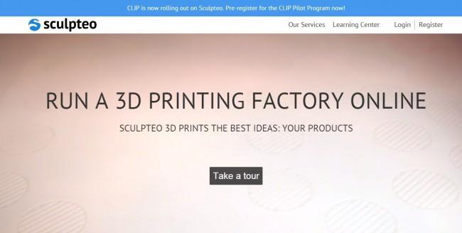 Sculpteo webiste