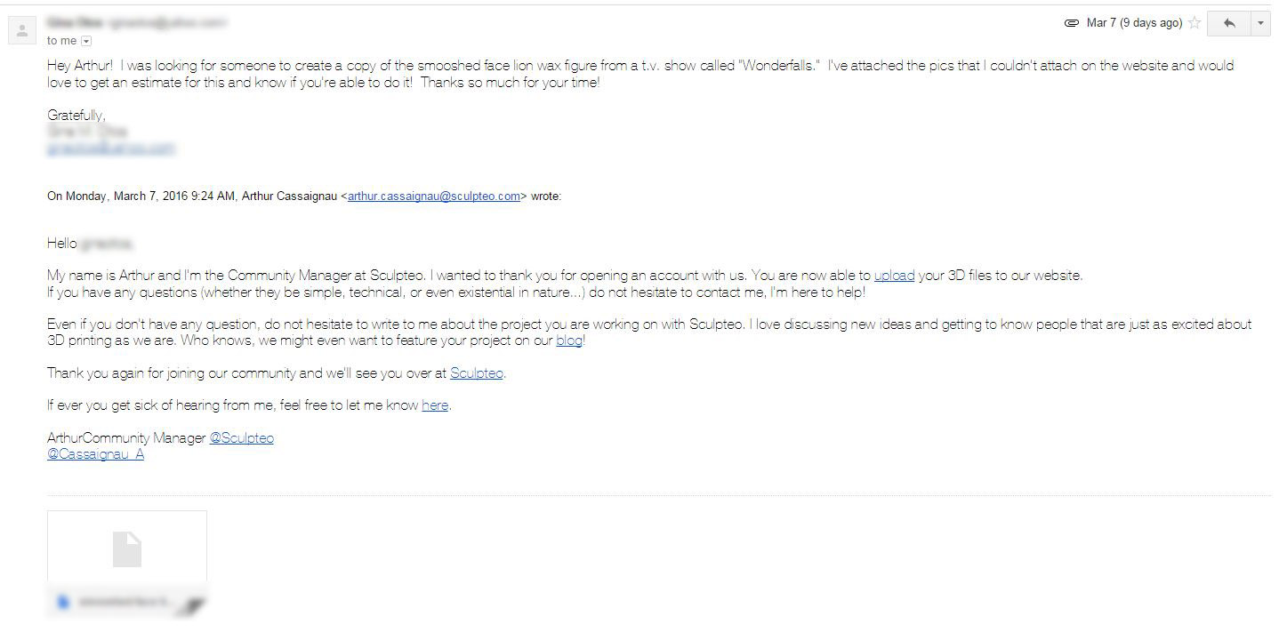 Sculpteo user email 2