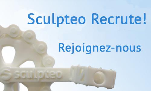 Passionné par l'impression 3D ? Sculpteo recrute !