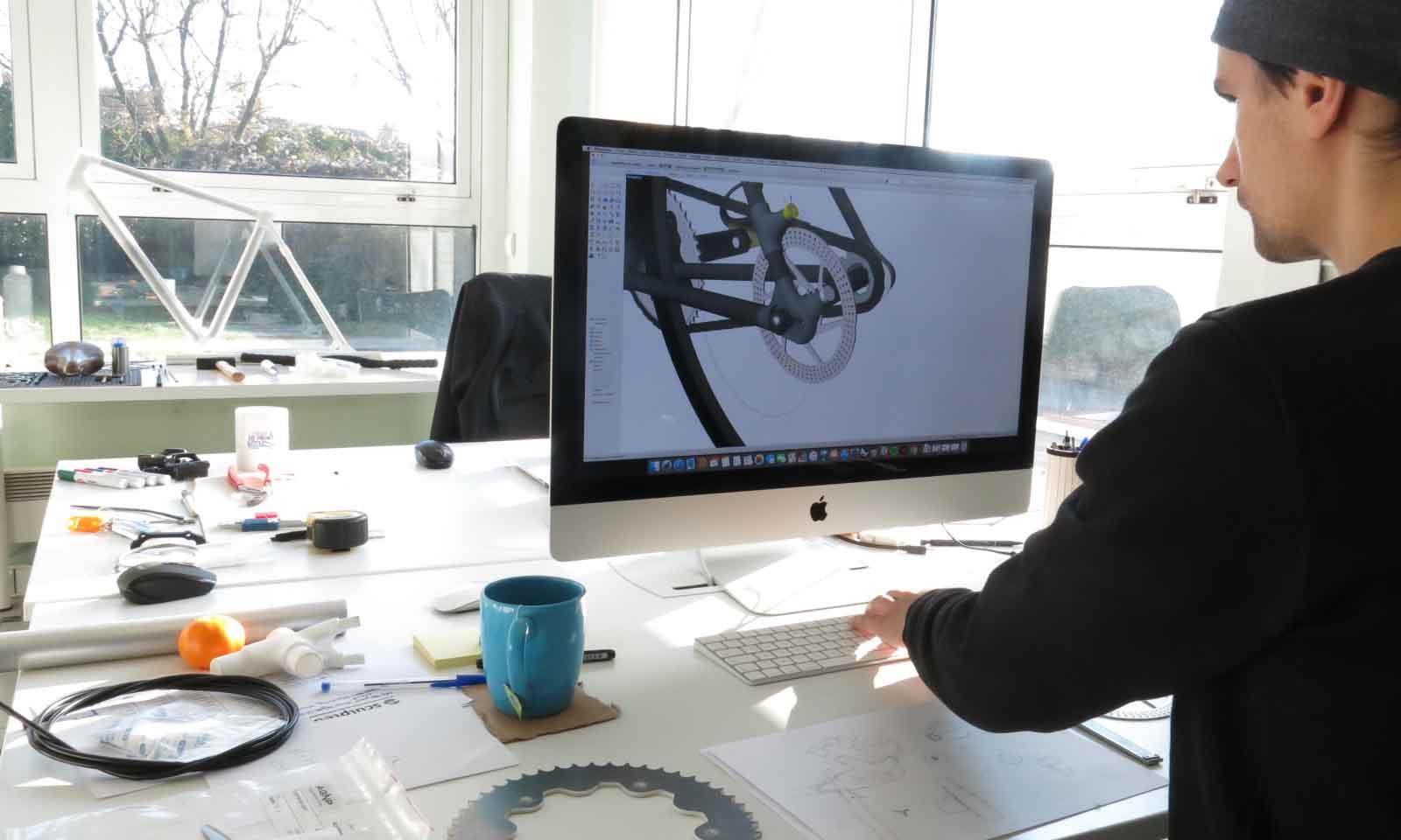 Digitally manufactured bike Sculpteo