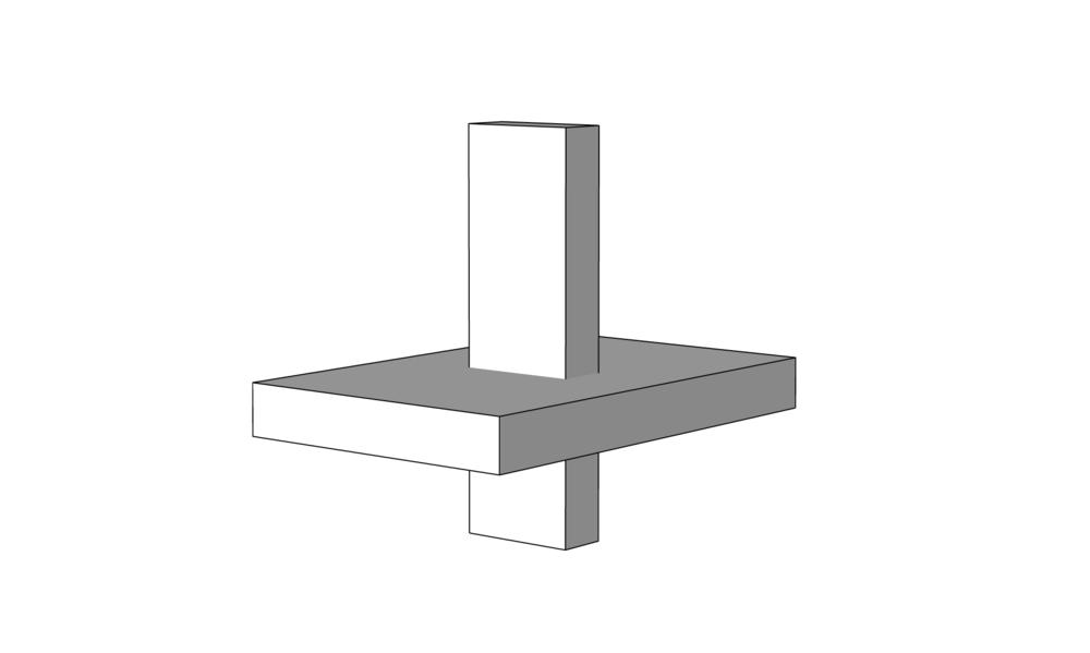 3D modeling rectangles crossing