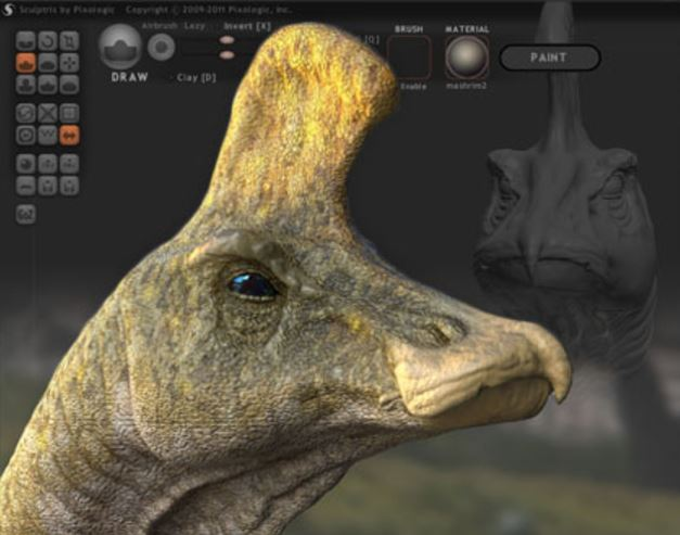 3D model created with Sculptris 3D sculpting software