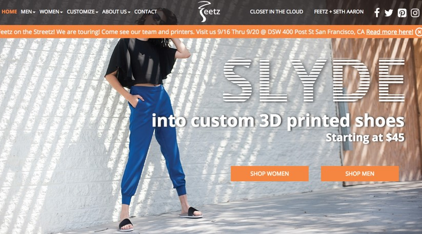Feetz 3D printing shoe business