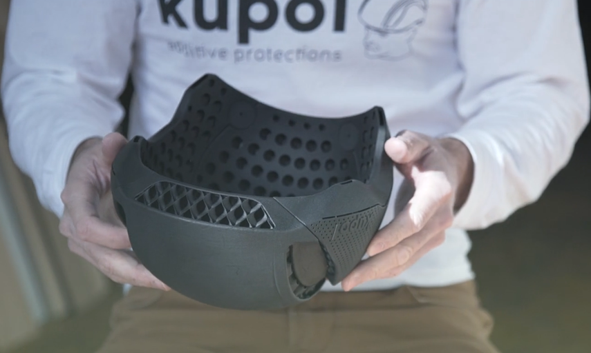 Discover the fully 3D printed bike helmet project