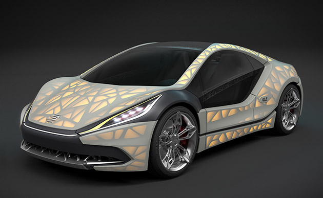 Light Cocoon 3D printed car by EDAG