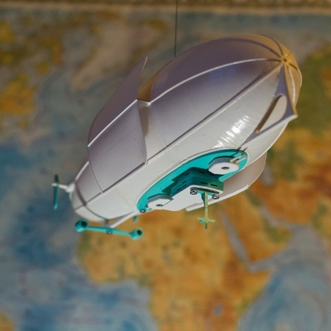 The 3d printed Zeppelin Lamp