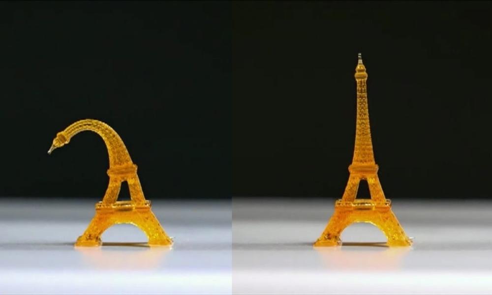 4D printing a shape memory polymer