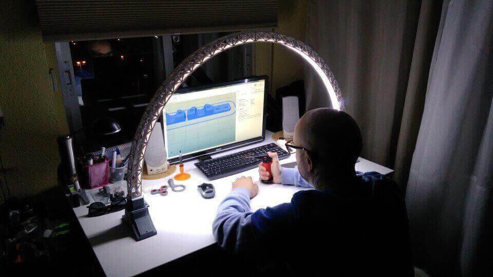 3d printed bridge lamp