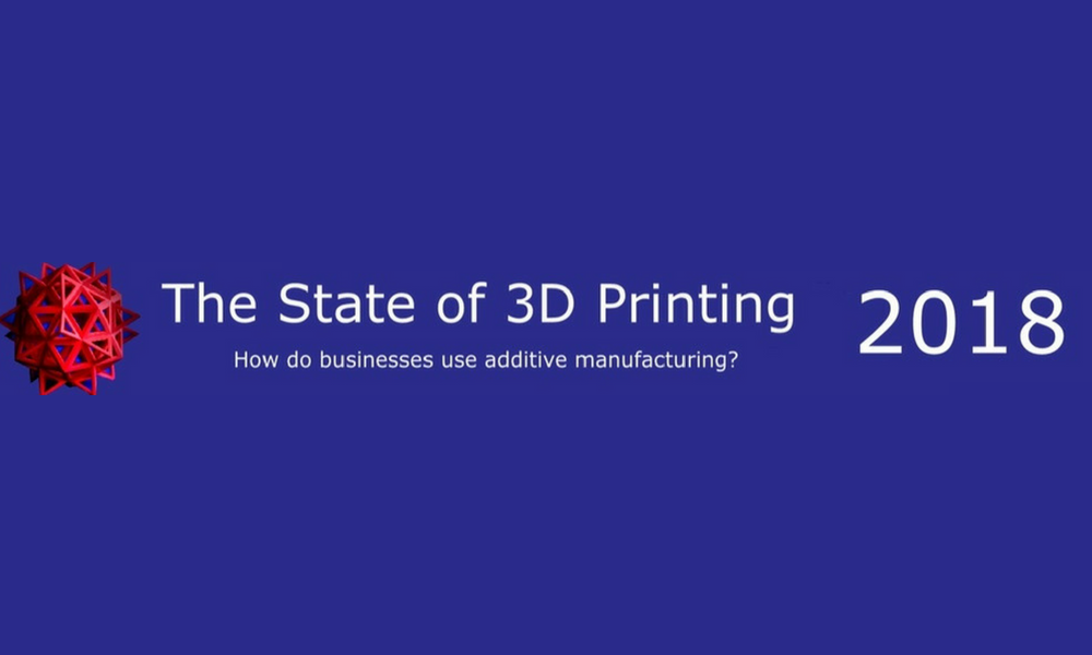 Fill out our survey ''The State of 3D Printing 2018''