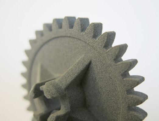 Zahnrad aus grauem Nylon PA11