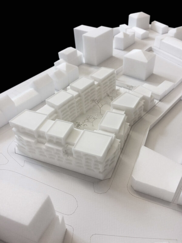 Architectural model made with 3D printing