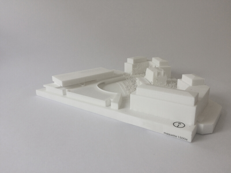 Architectural model 3D printed