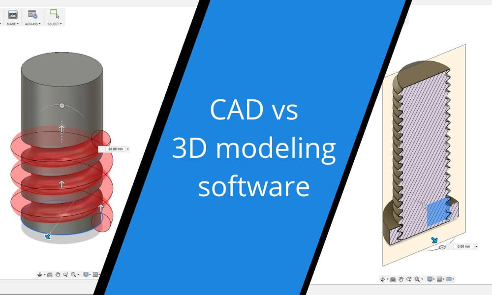 CAD vs 3D modeling software: what is the difference?
