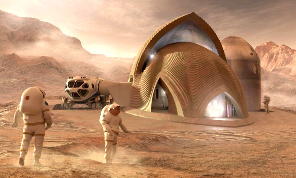 Who won NASA's 3D printed habitat challenge on Mars?