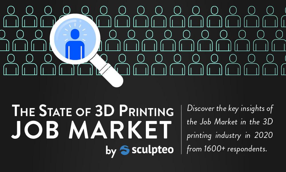 Focus du Baromètre de l'Impression 3D 2020 : Le Marché de l'Emploi