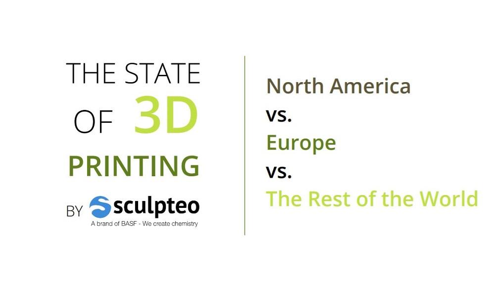 Imprimer en 3D en Amérique du Nord VS Europe vs le reste du monde : Découvrez notre étude !