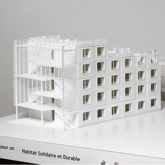 3D Printed architecture competition model