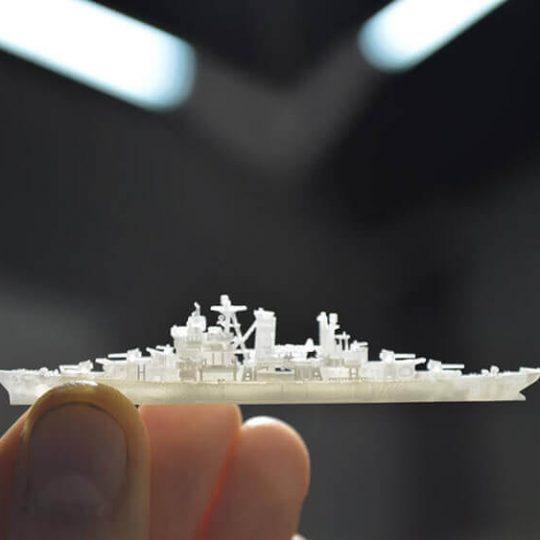 3D printed ship model